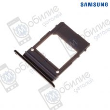 Слот sim лоток Samsung A8 2018/A8+ Plus 2018 Black, GH98-42520A, совм.: A530, A730