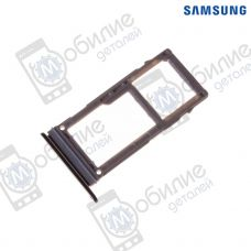 Слот sim hybrid лоток Samsung A8 2018/A8+ Plus 2018 Black, GH98-42519A, совм.: A530, A730