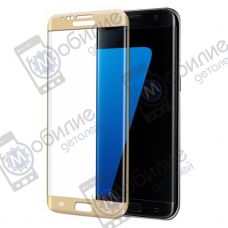 Защитное стекло Samsung S7 Edge (G935) 3D Gold Full Screen