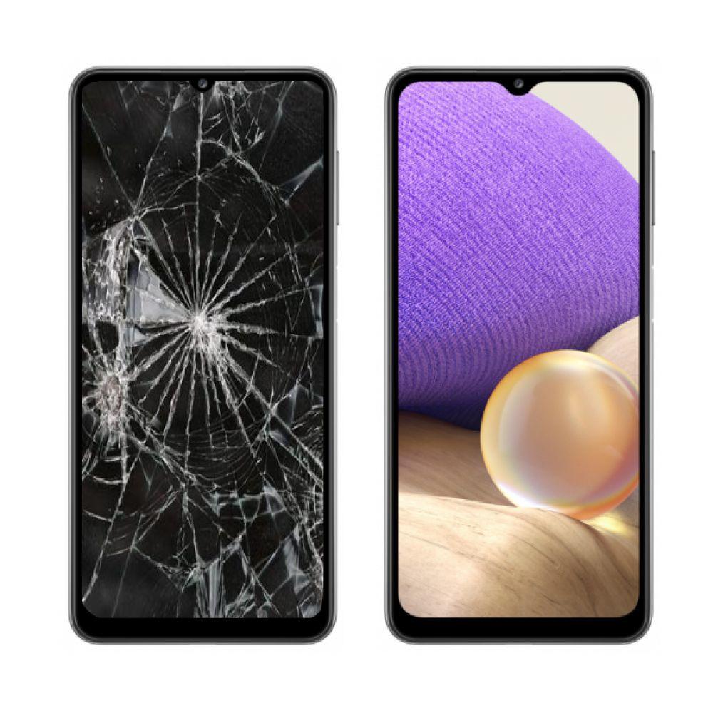 Замена дисплея/экрана в Samsung Galaxy A32 цена срочного ремонта,  восстановление переклейка стекла в Киеве | сервисный центр Samsung |  Мобилие деталей